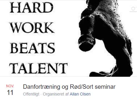 Danfortræning og Rød/Sortbælte seminar