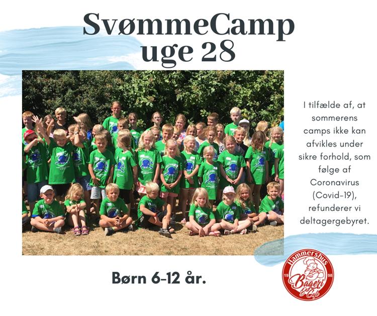 Sommer SvømmeCamp  uge 28 - børn 6-12 år