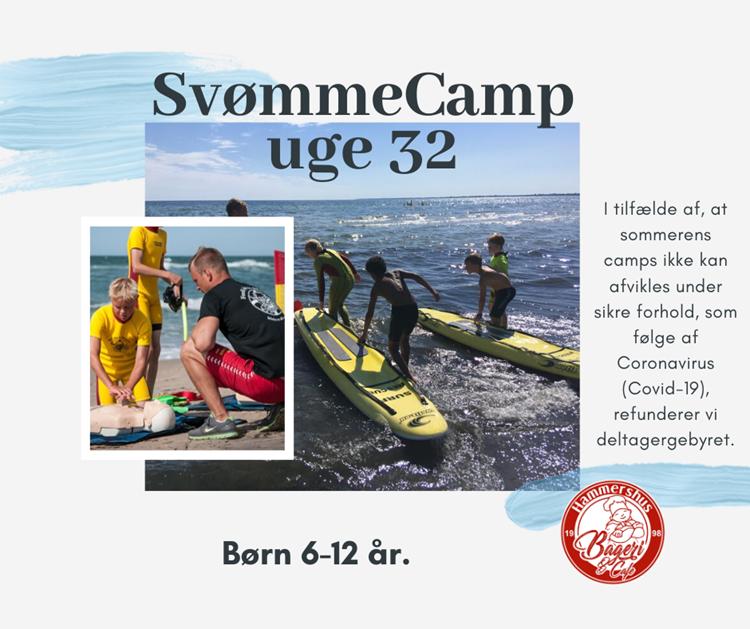 Sommer SvømmeCamp uge 32 - børn 6-12 år.
