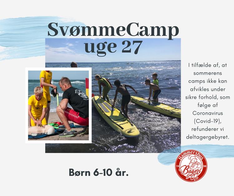 Sommer SvømmeCamp uge 27 - børn 6-12 år.