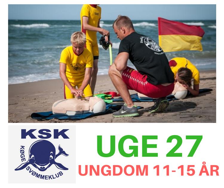 SvømmeCamp med livredningstema på stranden i uge 27 - ungdom 11-15 år..
